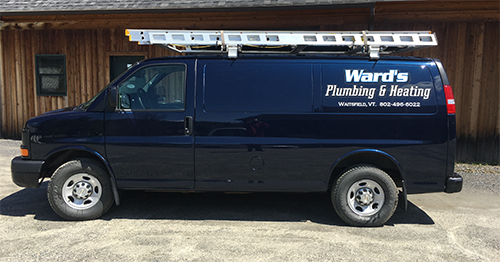 Wards Plumbing & Heating van